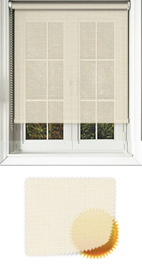 Cream Sun Screen Motorised Roller Blind