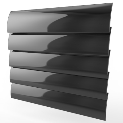 Deep Black Gloss Venetian Blind
