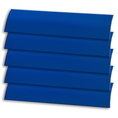 Deep Blue Wooden Blind