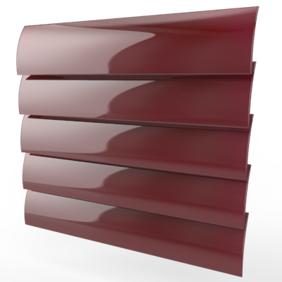 Deep Red Gloss Cordless Roller Blind