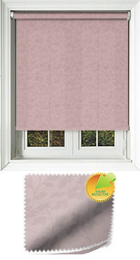 Delia Solar Rose Wooden Blind