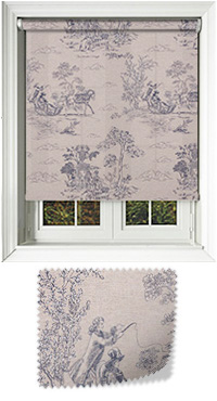Denby Blue Motorised Roller Blind
