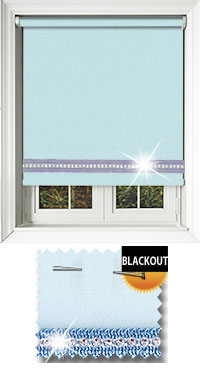 Diamonte Baby Blue Wooden Blind