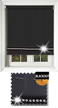 Diamonte Black Bifold Doors Blind
