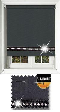 Diamonte Black Replacement Vertical Blind Slat