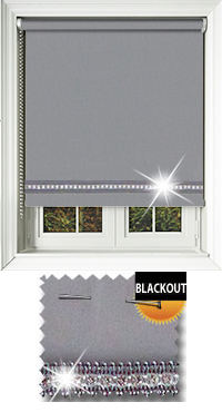 Diamonte Grey Replacement Vertical Blind Slat