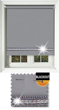 Diamonte Grey Vertical Blind