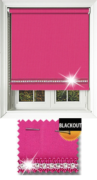 Diamonte Pink Vertical Blind