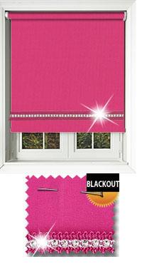 Diamonte Pink Replacement Vertical Blind Slat