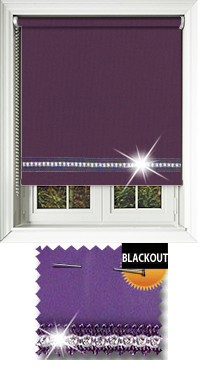 Diamonte Purple Vertical Blind