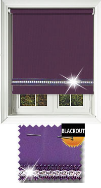Diamonte Purple Cordless Roller Blind