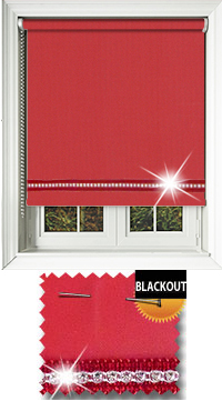 Diamonte Red Vertical Blind
