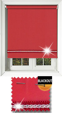 Diamonte Red Roller Blind