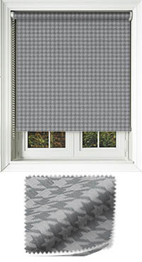 Dog Tooth Charcoal Motorised Roller Blind