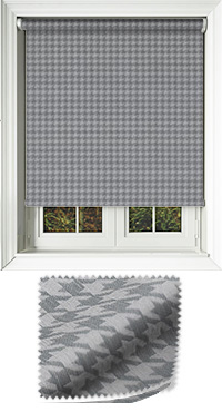 Dog Tooth Charcoal Vertical Blind