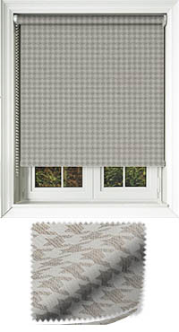 Dog Tooth Taupe Roller Blind