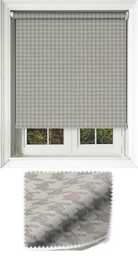 Dog Tooth Taupe Vertical Blind