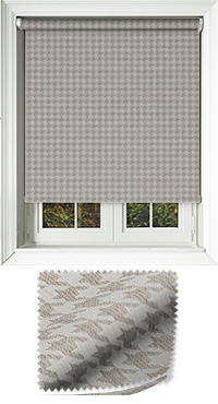 Dog Tooth Taupe Venetian Blind