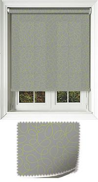Doodle Lime Bifold Doors Blind