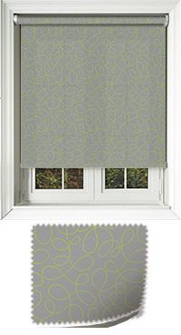 Doodle Lime Replacement Vertical Blind Slat