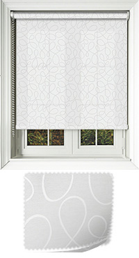 Doodle White Replacement Vertical Blind Slat