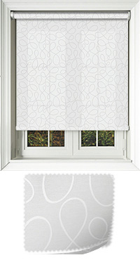 Doodle White Cordless Roller Blind
