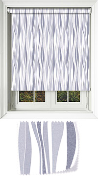 Drench Blue Grey Vertical Blind