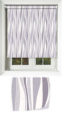 Drench Charcoal Cordless Roller Blind