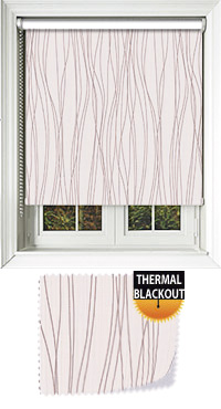 Drizzle Brown Bifold Doors Blind