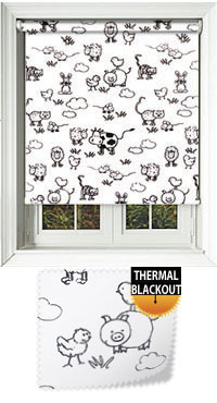 Farmyard Milk Vertical Blind