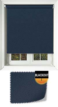 Faux Suede Blue Waterproof Cordless Roller Blinds Fabric Swatch