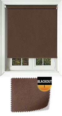 Faux Suede Cocoa Cordless Roller Blind