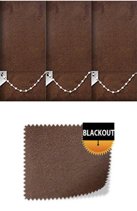 Faux Suede Cocoa Replacement Vertical Blind Slat