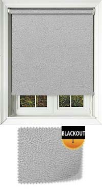 Faux Suede Grey Waterproof Cordless Roller Blinds Fabric Swatch