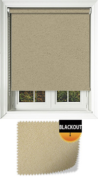 Faux Suede Mocha Cordless Roller Blind