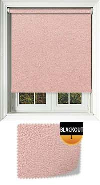 Faux Suede Pink Waterproof Cordless Roller Blinds Fabric Swatch