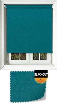 Faux Suede Teal Waterproof Cordless Roller Blinds Fabric Swatch