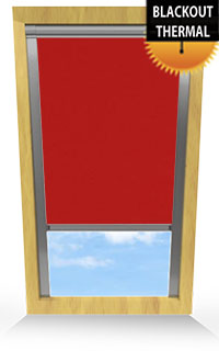 Flame Red Motorised Roller Blind