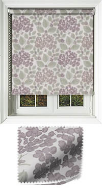 Flowerbed Grape Cordless Roller Blind