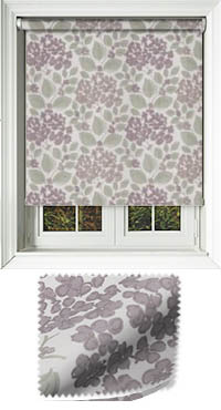 Flowerbed Grape Roller Blind