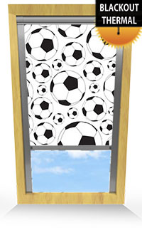 Footballs Motorised Roller Blind