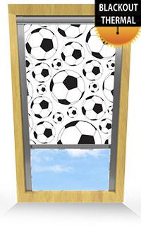 Footballs Cordless Roller Blind