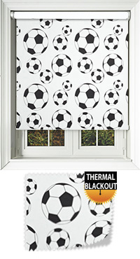 Footy Black & White Replacement Vertical Blind Slat