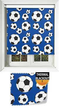 Footy Blue Cordless Roller Blind