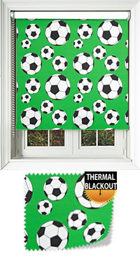 Footy Green Cordless Roller Blind