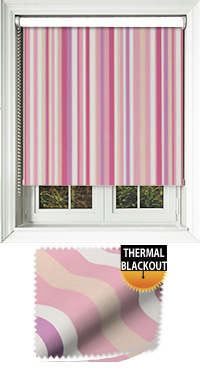 Funky Stripe Candy Cordless Roller Blind