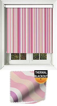 Funky Stripe Candy Motorised Roller Blind