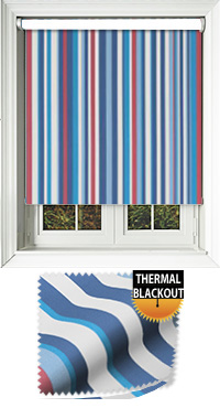 Funky Stripe Sky Motorised Roller Blind