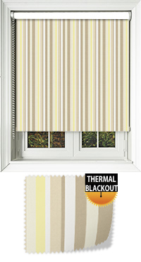 Funky Stripe Sunshine Replacement Vertical Blind Slat