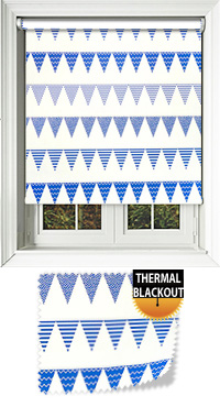 Garden Party Blue Replacement Vertical Blind Slat